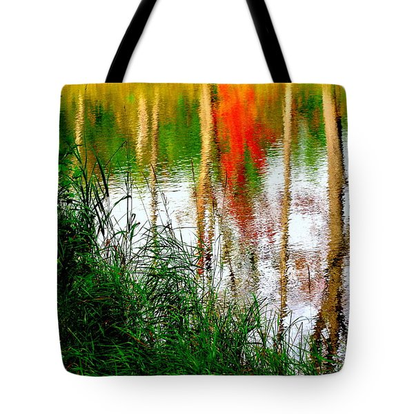Tote Bag featuring the photograph Fall Reflections by Elfriede Fulda