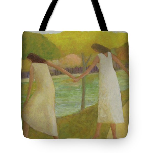 Tote Bag featuring the painting Fall River by Glenn Quist