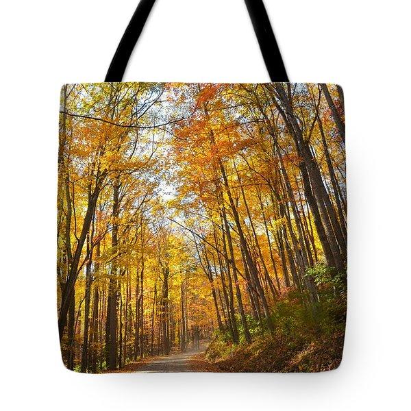 Fall Road Tote Bag