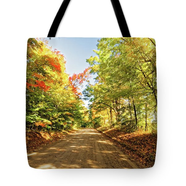Tote Bag featuring the photograph Fall Roads by Lars Lentz