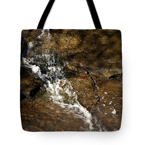 Tote Bag featuring the photograph Fall Runoff At Broadwater Falls by Michael Dougherty