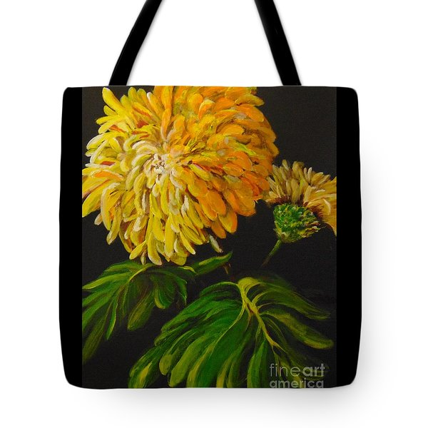 Tote Bag featuring the painting Fall by Saundra Johnson