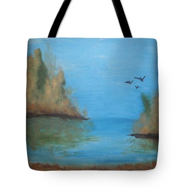 Tote Bag featuring the painting Fall Scene by Betty-Anne McDonald