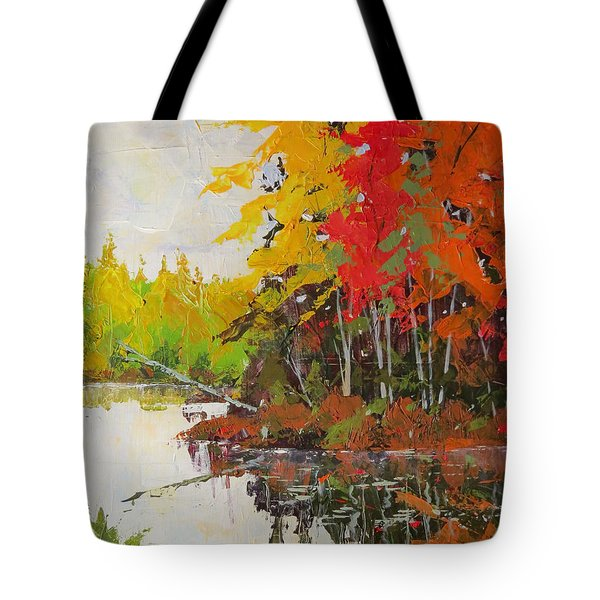 Fall Scene Tote Bag