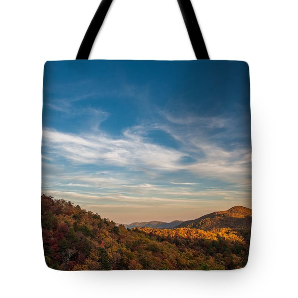 Fall Skies Tote Bag
