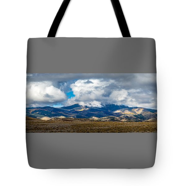 Fall Storm Clearing Off Pintada Mountain Tote Bag by John Brink