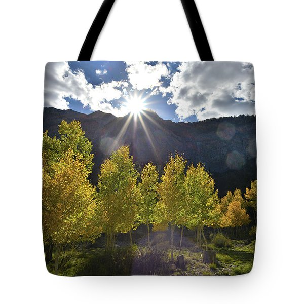 Fall Sun Setting Over Mt. Charleston Tote Bag