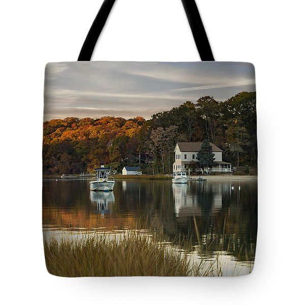 Fall Sunset In Centerport  Tote Bag