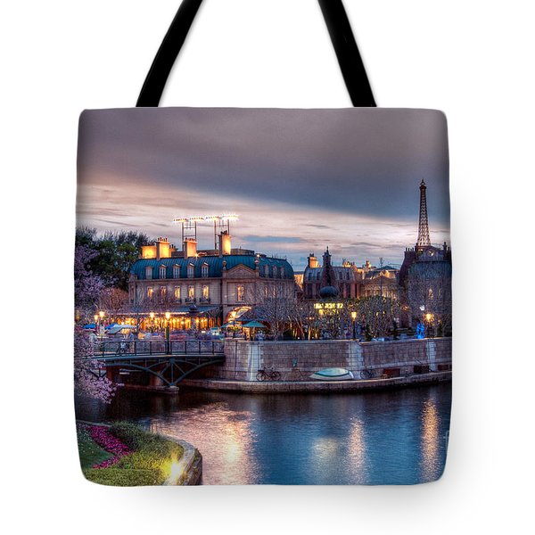 Fall Sunset Of France Tote Bag