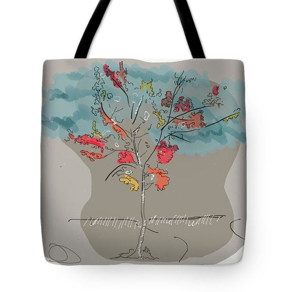 Fall To Peaces Tote Bag by Jason Nicholas