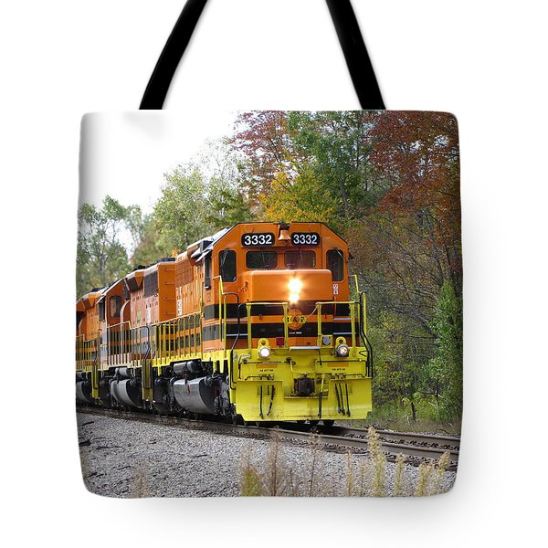 Fall Train In Color Tote Bag