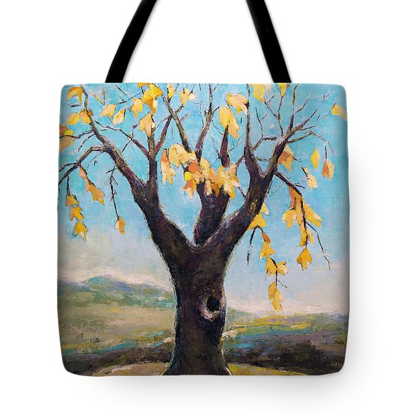 Fall Tree In Virginia Tote Bag by Becky Kim
