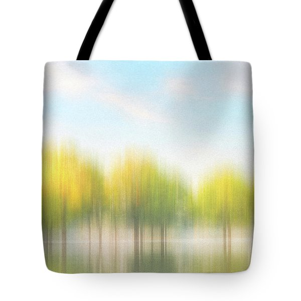 Fall Trees On Flooded Lake Tote Bag