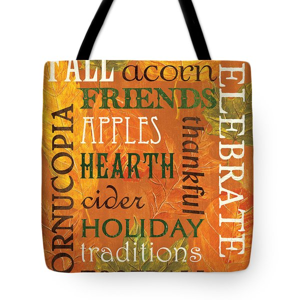 Fall Typography 2 Tote Bag