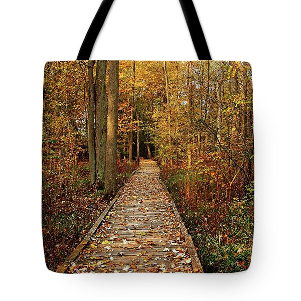 Fall Walk Tote Bag