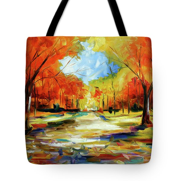 Fall Walk In The Trees Tote Bag