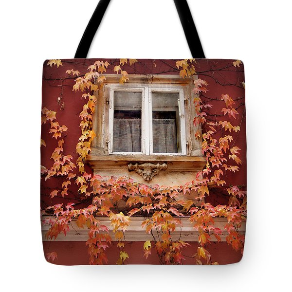 Fall Window,prague Tote Bag