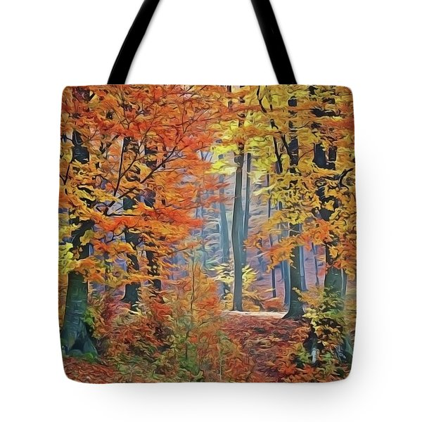 Fall Woods Tote Bag
