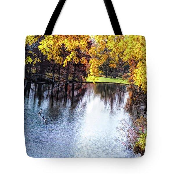 Fall Yellow Boarder Tote Bag