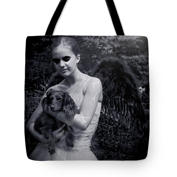 Tote Bag featuring the photograph Fallen Angel by Rebecca Margraf