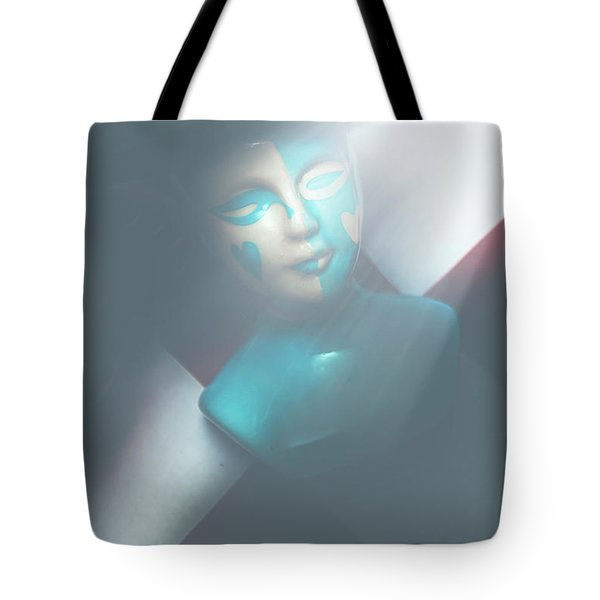 Fallen Blue King Of The Grand Chessboard Tote Bag