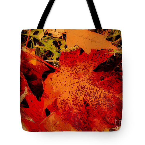 Tote Bag featuring the photograph Fallen Leaf by Gayle Price Thomas