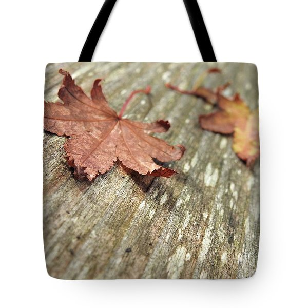 Tote Bag featuring the photograph Fallen Leaves by Peggy Hughes