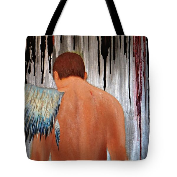 Tote Bag featuring the painting Fallen by Lori Jacobus-Crawford