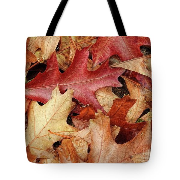 Tote Bag featuring the photograph Fallen by Peggy Hughes