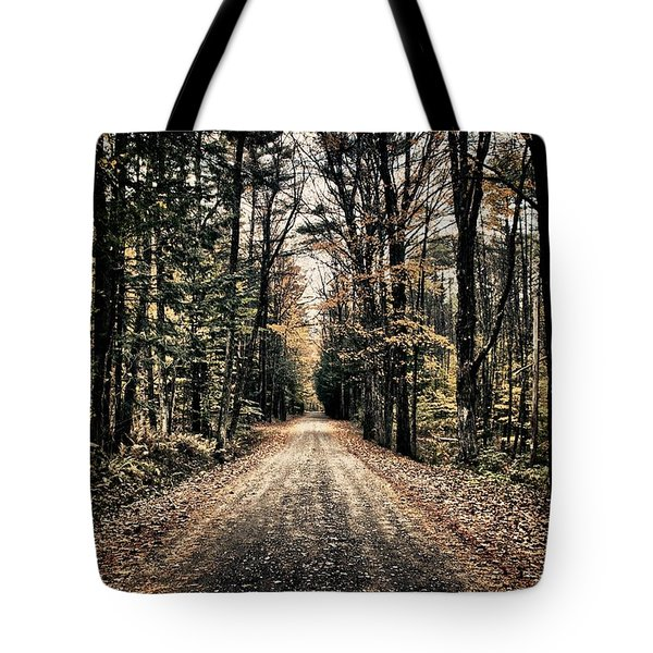 Fallen Road Tote Bag by Nathan Larson
