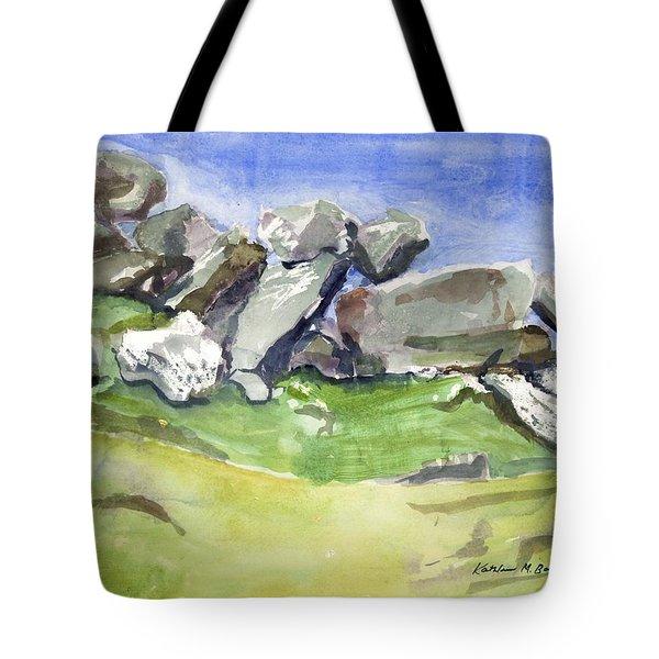 Fallen Stones Tote Bag