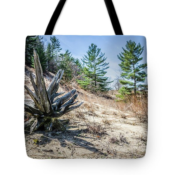 Fallen Tree At Warren Dunes Tote Bag