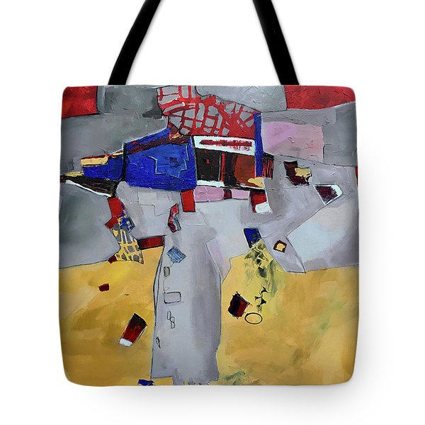 Falling City Tote Bag