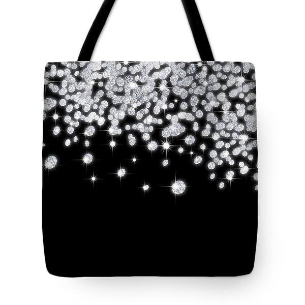 Falling Diamonds Tote Bag