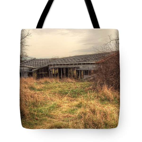 Falling Down Tote Bag