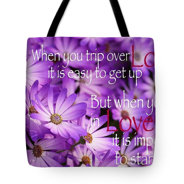 Falling First Tote Bag