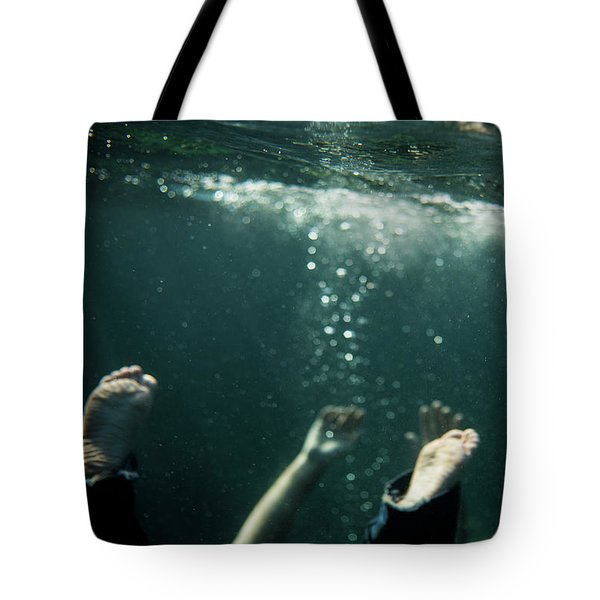 Falling In The Darkness Tote Bag