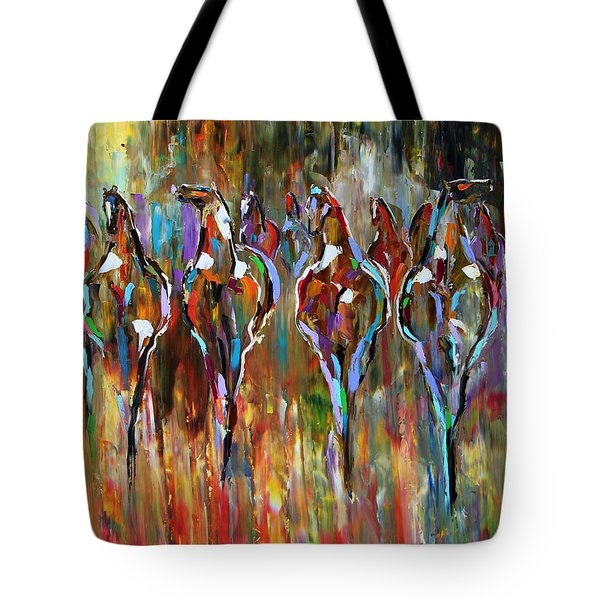 Falling Into Winter Herd Tote Bag