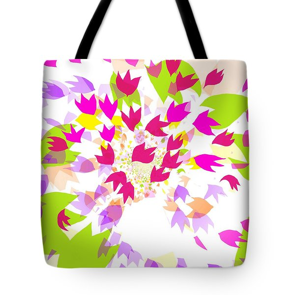Tote Bag featuring the digital art Falling Leaves by Barbara Moignard