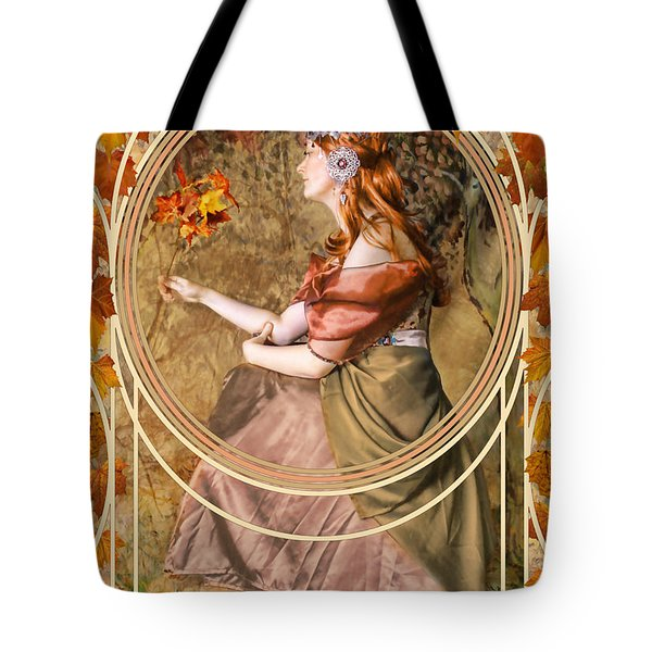 Falling Leaves Tote Bag by John Edwards