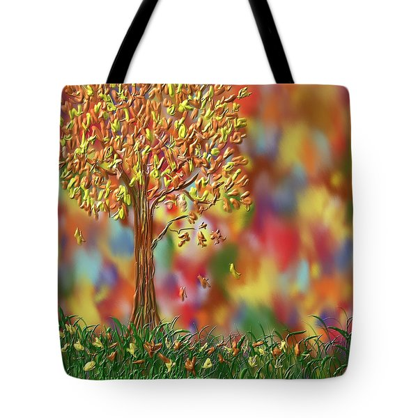 Falling Leaves Tote Bag by Kevin Caudill