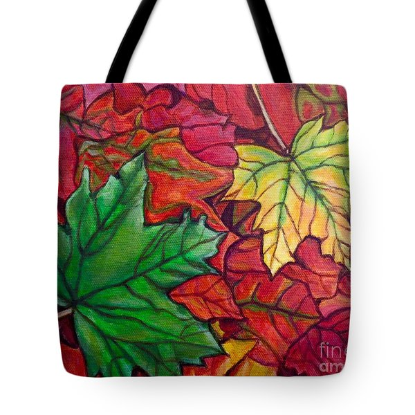 Falling Leaves I Painting Tote Bag
