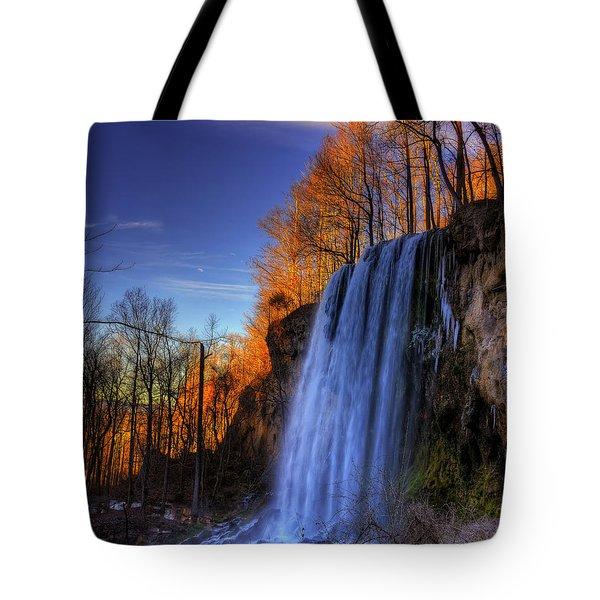 Falling Spring Falls Tote Bag by Steve Hurt