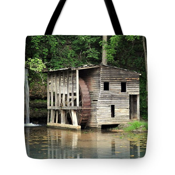 Falling Spring Mill 3 Tote Bag by Marty Koch