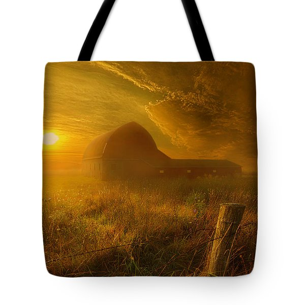 Falling Through Time Tote Bag by Phil Koch