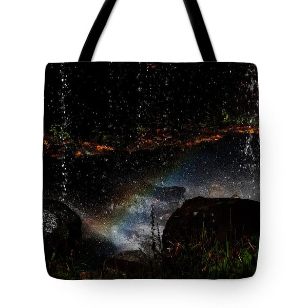 Tote Bag featuring the photograph Falling Water Abstract by Chris Flees
