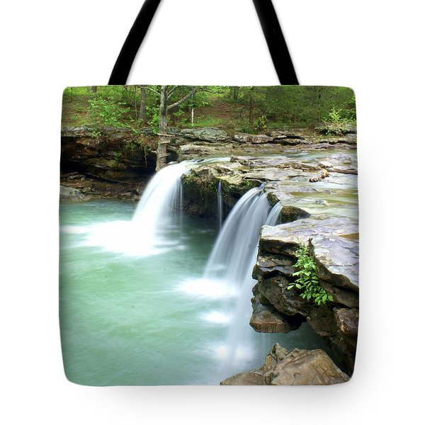 Falling Water Falls 5 Tote Bag by Marty Koch