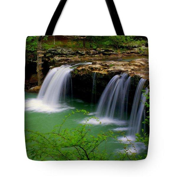 Falling Water Falls Tote Bag by Marty Koch