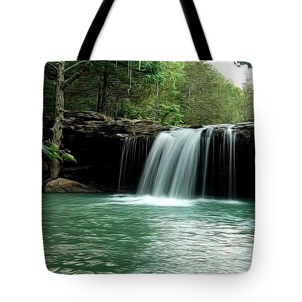 Falling Water Falls Tote Bag