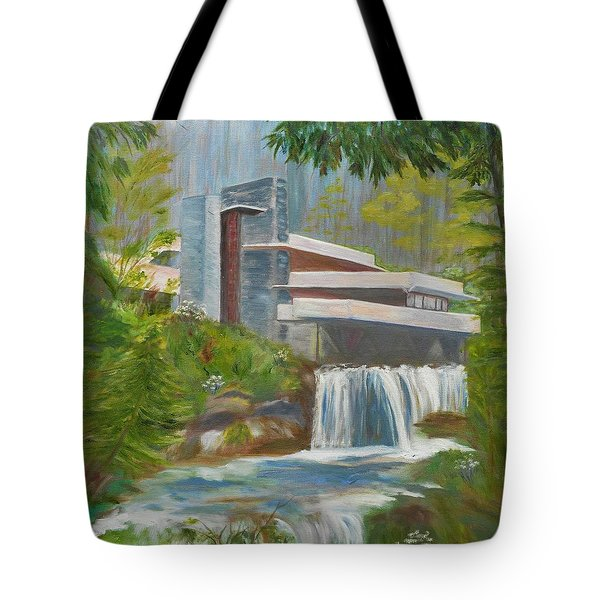 Falling Water Tote Bag by Jamie Frier